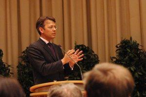 Festredner 2008:Otto Fricke, MdB, seinerzeit Vorsitzender des Haushaltsausschusses des Deutschen Bundestags. Bild: Martin Stammler