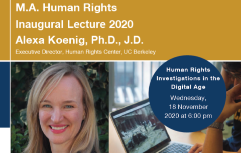 "Zum Artikel ""Vortrag ""Human Rights Investigations in the Digital Age"" am 18.11.2020 um 18 Uhr via Zoom"""